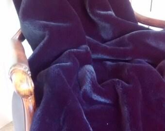 Black Moleskin Faux Fur Throw