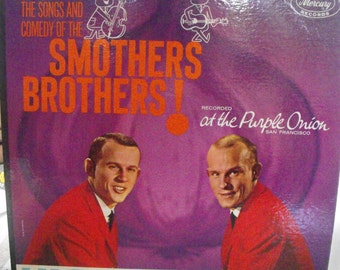 The Songs and Comedy of the Smothers Brothers, Recorded at the Purple Onion, San Francisco, Vintage Record Album, Vinyl LP
