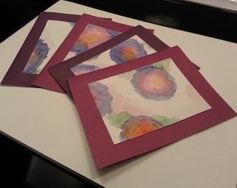 Plum & Violet Poppy Cards