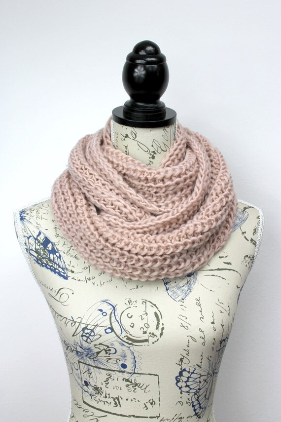 Chunky Knit Scarf Winter Accessories Gift for Women Infinity Scarf Shawl Gift for Her Womens Gift Oversized Knitting