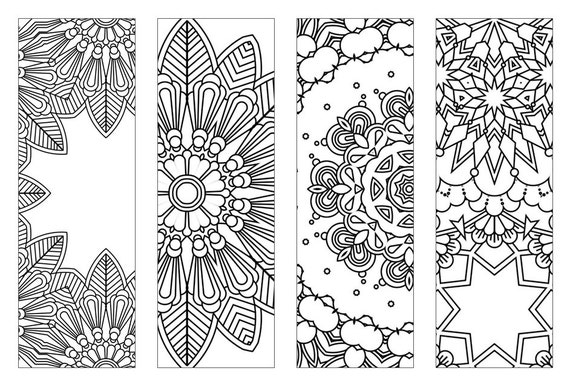 Fabulous image in free printable bookmarks to color pdf