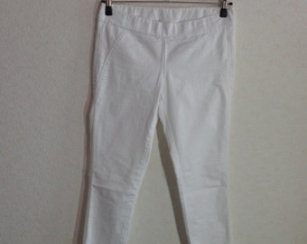 Vintage 90s.#Women Pants#White Casual Pants#Size Medium
