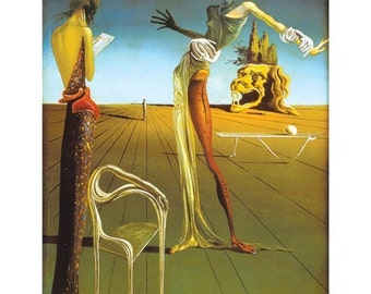 Salvadore Dali Woman With A Head Of Roses 1935 print poster wall art 11 x 14