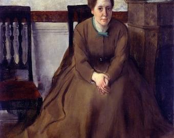Edgar Degas: Victoria Dubourg. Fine Art Print/Poster. (003776)