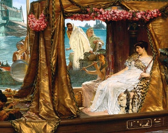 Lawrence Alma-Tadema: The Meeting of Antony and Cleopatra, 41 B.C. Fine Art Print/Poster. (003792)