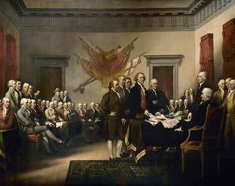 John Trumbull: The Declaration of Independence. Fine Art Print/Poster (00388)