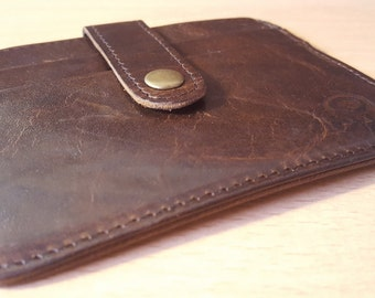 Quality Slimline Leather Credit Card / Buisness Card Holder
