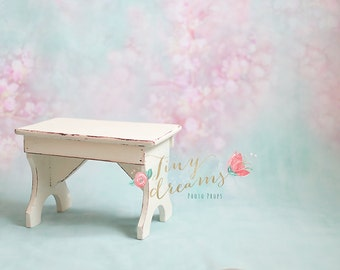 Vintage stool newborn, baby photography prop