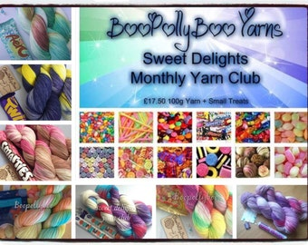 Monthly Yarn Club Sweet Delights from Boopollyboo
