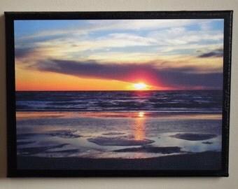 Sunset Photograph on Canvas 9x12
