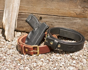Heavy Duty Black Holster Belts in 1.5inchwidth with roller buckle ideal for concealed carry belt