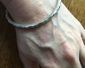 Mexican sterling bangle -- 77