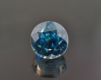 5.12 ct. Natural Round Shaped Blue Zircon