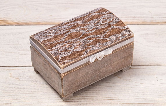 Shabby Chic Pillow Boxes : Rustic Ring Bearer Pillow Shabby Chic Ring Box Rustic Lace