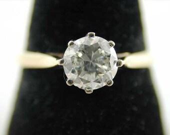 Vintage 18CT Gold 0.73 carat Dimond Solitaire Ring 1984 SizeO Anchorcert
