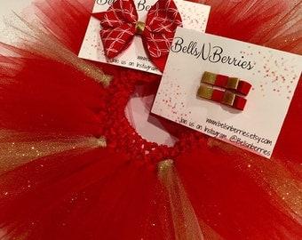 Holiday Tutu & Hair bow set