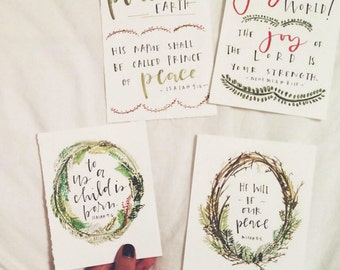 4 Christmas Cards & Tags (Download Printable)