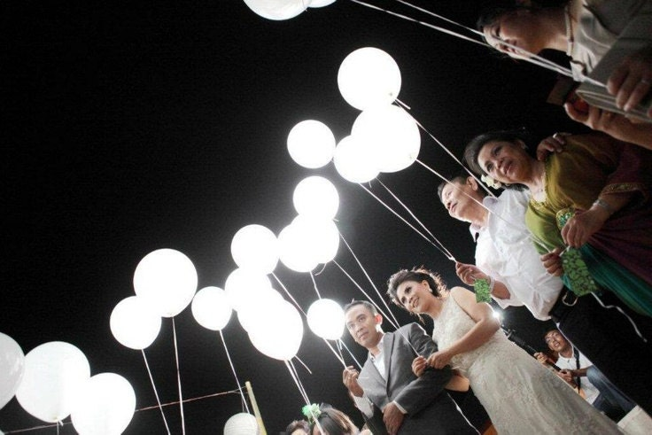 White Led Lights For Balloons Wedding Send Off Party
