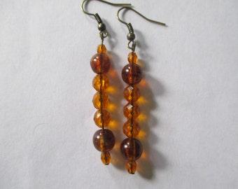 Vintage Amber Beaded Earrings