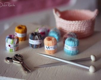 Crochet with sock accessories basket