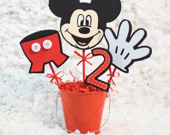 Mickey Mouse Birthday Party/Foam Centerpieces/Pails