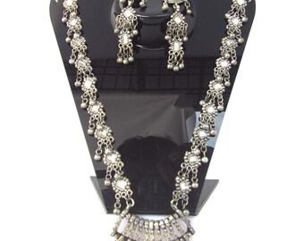 Elegantly hand crafted antique Silver Oxidized finish designer Necklace
