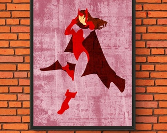 Minimalism Art - Scarlet Witch Print