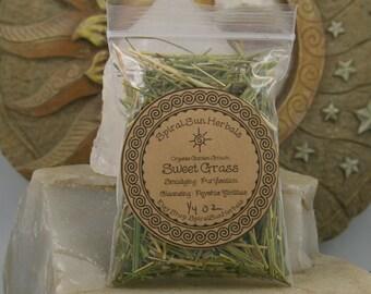 1/4 oz Sweetgrass Cut, Hierochloe odorata, Organic, Pestiside Chemical free, purification, cleansing, Vanilla Buffalo Grass, Dream Pillow