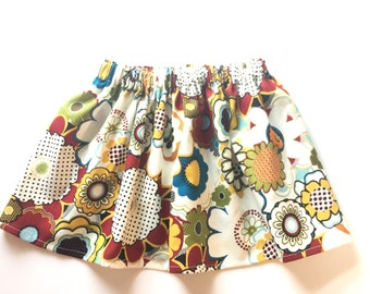 Autumn Dot Floral Skirt  - You Choose Size