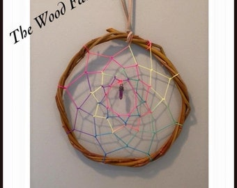 Rustic Rainbow Dreamcatcher