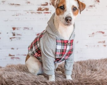 Flannel Dog hoodie, Dog jacket, Dog clothing, Puppy Coat, Dog Pullover, Dog flannel jacket, Dog winter coat, Limited Edition