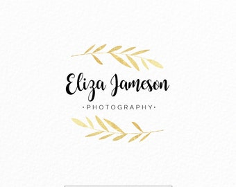 Florist Logo | Event Planner Logo | Gold Leaves Logo | Laurel Logo  |  Simple Logo  | Modern Logo | Photography Logo | Wedding Logo