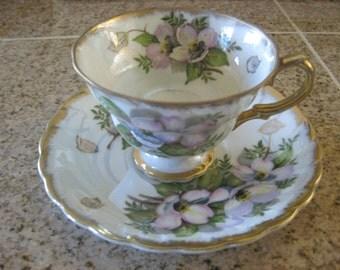 Iridescent Tea Cup and Saucer