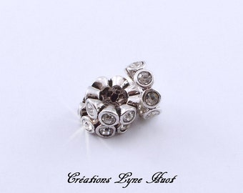 Choose 1, 3 or 5 European style charm beads tibetan silver, with rhinestone!