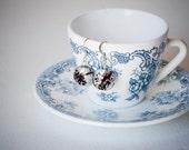 Murano glass earrings. Silver hook. Christmas gift.