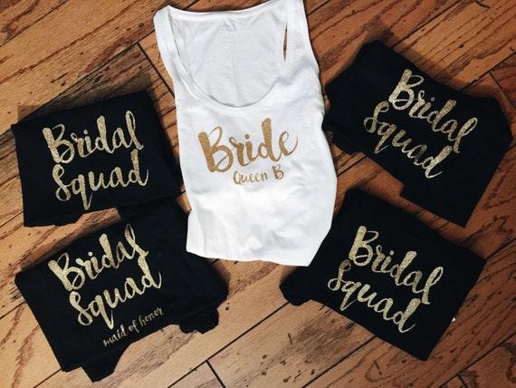 Bride Squad Tanks in Cursive | Bridal Squad | Bridesmaids Tanks