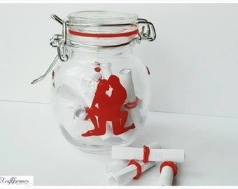 Kama Sutra Jar, Adult Date Night Jar, Sexy Gift, Couple gift, Sex Positions, Adult Games, Erotic Fun, Karma Sutra Jar