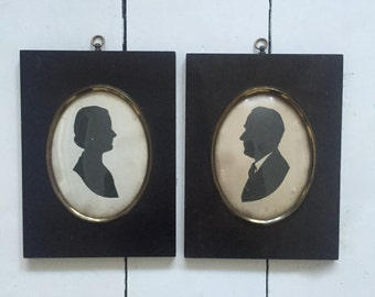 Antique Framed Silhouette