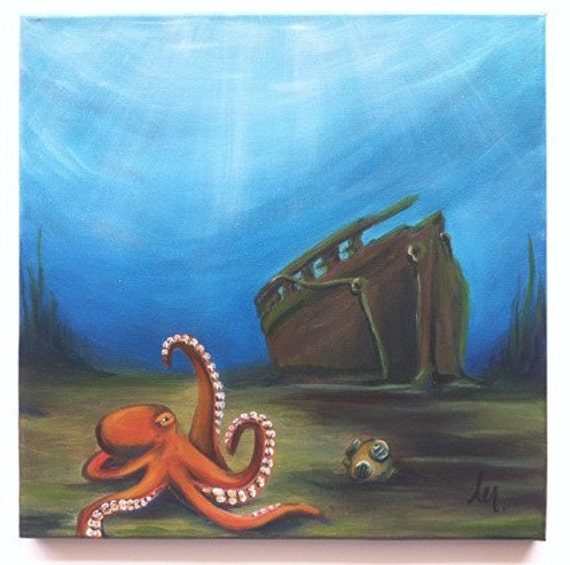 Octopus Painting Under...