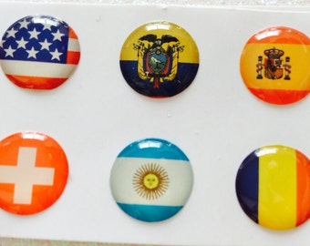 Set of 6 IPhone 3 4 4s 5 5c 5s 6 iPod Touch  iPad Air Flag Home Buttons Set of 5