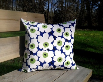 Pillow cover made from Marimekko fabric Unikko, pillow case or sham, Scandinavian throw pillow or cushion cover, modern accent pillow