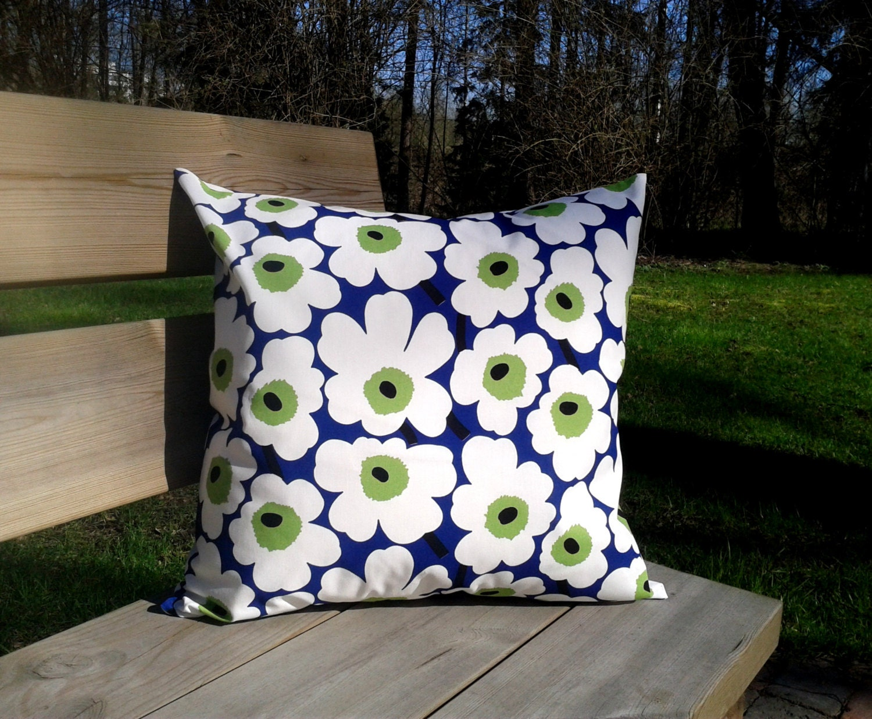 Pillow cover made from Marimekko fabric Unikko pillow case or