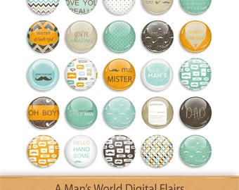 Digital Flair Button Scrapbooking Add On Clipart Scrapbook