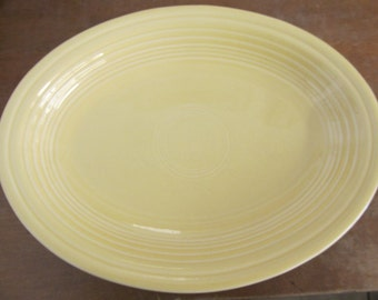 Yellow HLC Fiestaware Platter or Large Plate