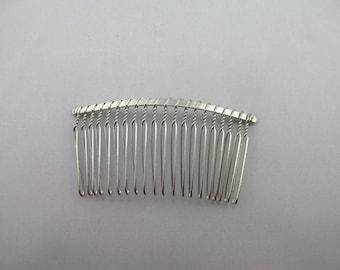 Silver Metal Veil Comb / 20 Teeth Silver Metal Veil Comb / Silver Veil Comb / Silver Hair Comb / Set of 20 / SQC2-SM
