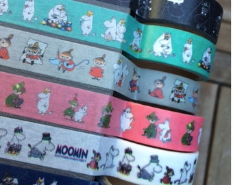 Moomin washi tape for scrapbooking, deco etc. from Finland, 5 meter roll, fun