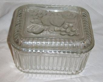 Vintage Refrigerator Dish with Lid