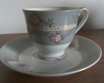 UCAGCO China = Vintage demitasse cup and saucer = Occupied Japan  - 1945 - 1952