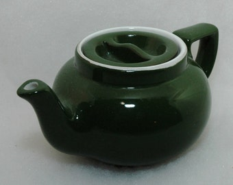 Vintage Hall green one cup teapot - Boston sunken lid teapot, Hall green teapot
