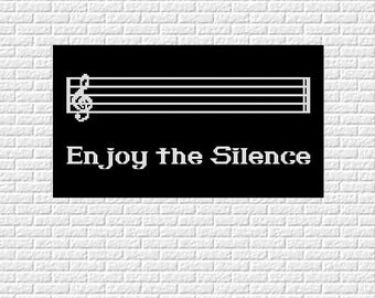 cross stitch pattern Enjoy the Silence